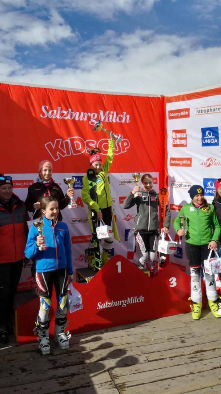 Salzburg Milch Kids Cup 2019 Raich Angiolina Österreichische Meisterin im Slalom U12
